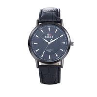 SJWH0038A SJ Fashion Watch Men 2016 Leather Watch Strap Upscale Black Big Dial Men Quartz Watch