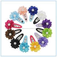 Wholesale cheap Ribbon Rose Flower Hair pins,Decorative ribbon Flower hair accessory