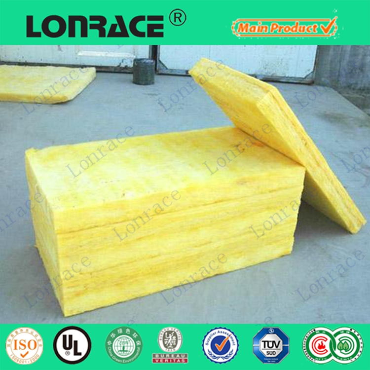 Fireproof and soundproof glass wool thermal insulation materials