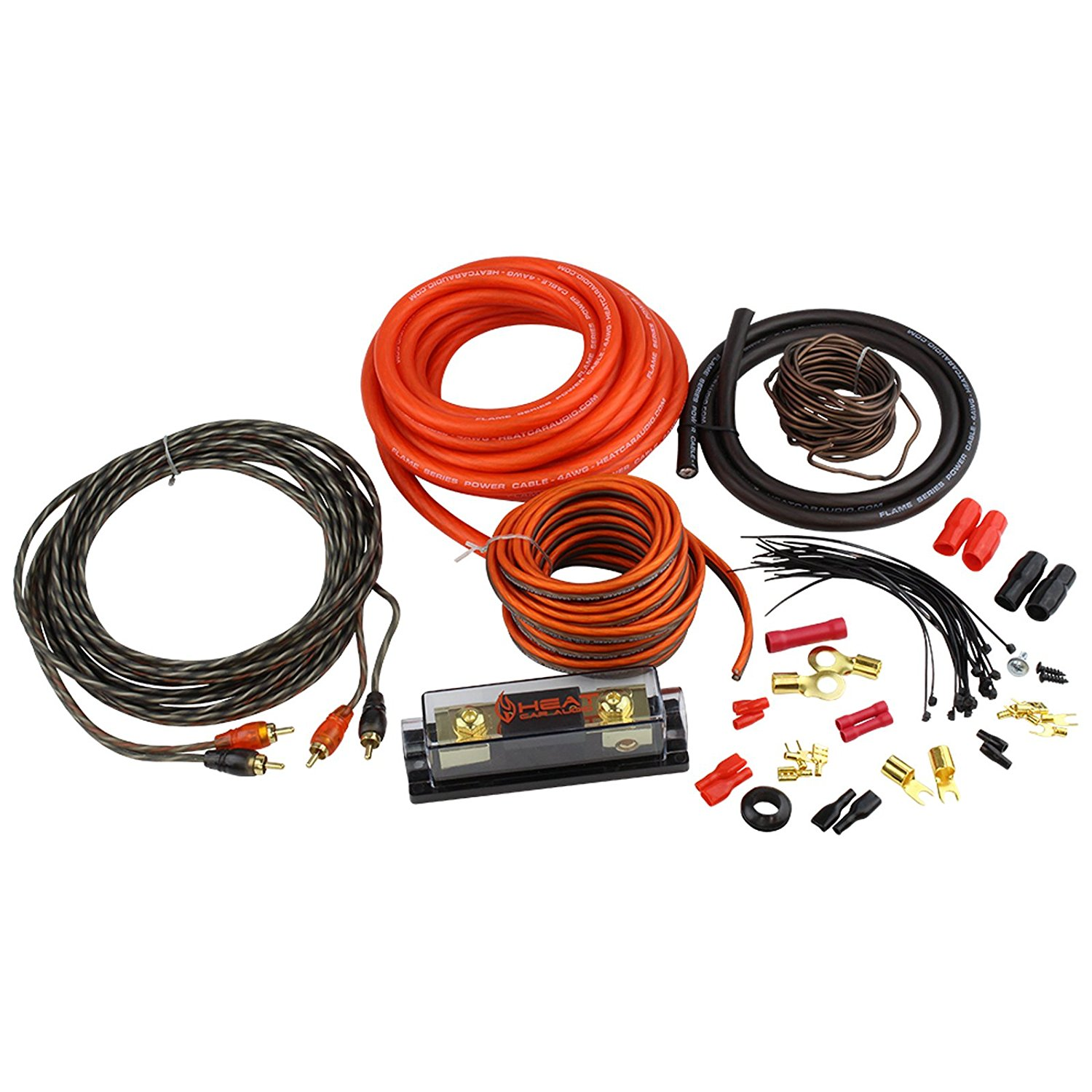 Buy 4 Gauge Car Amplifier Amp Power Installation 100 Ofc Wire Kit Oxygen Free Copper Install Kit4 Wiring