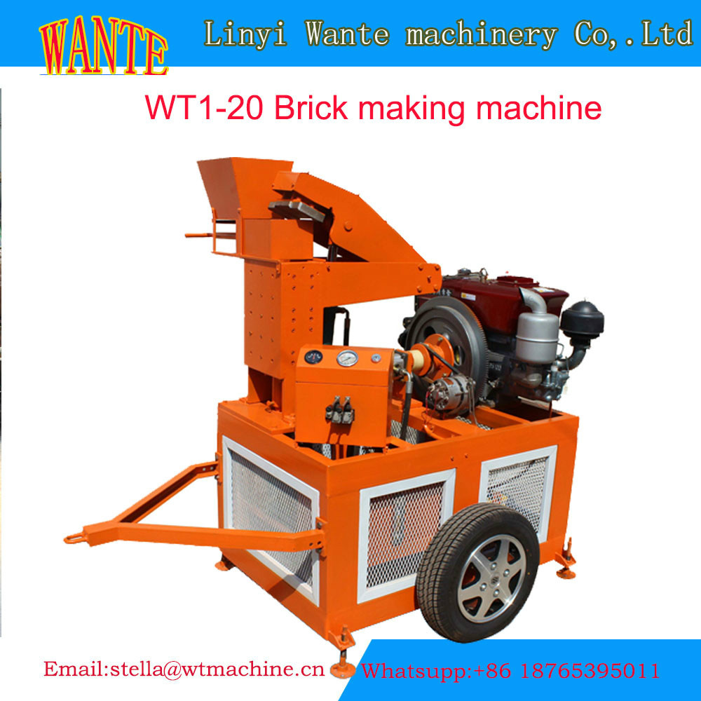 Wt1 20 presse brique terre crue usine de chine des machine des brique en