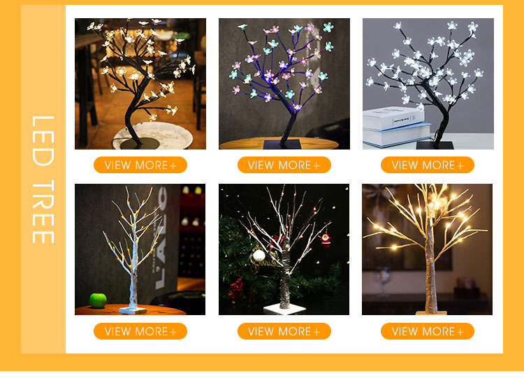 2017 Best Selling 24 led Warm White Led Gold Glitter Christmas Tree