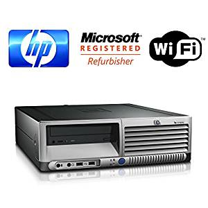 """HP DC7600 Desktop with 17"""" Inch HP Monitor and Speakers - Pentium D HyperThread 3.2GHz - 250GB HDD - 2GB RAM - WIFI - DVD/CD-RW - Windows XP Professional SP3 Operating System (Featuring an iCompNY USB Keyboard and Mouse)"""
