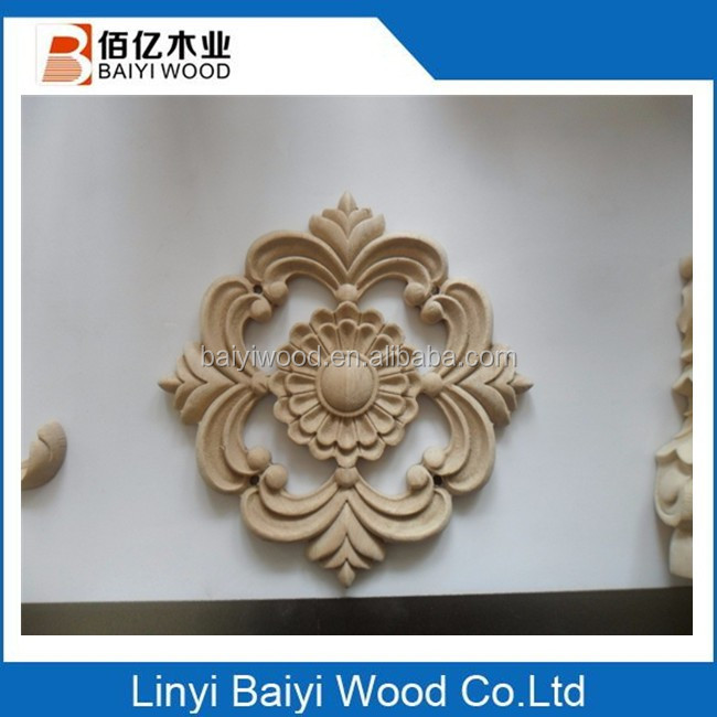 basswood oak wood carved onlays