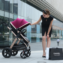 Hot sale 3 in 1 baby stroller with big wheel pram with carrycot and car seat
