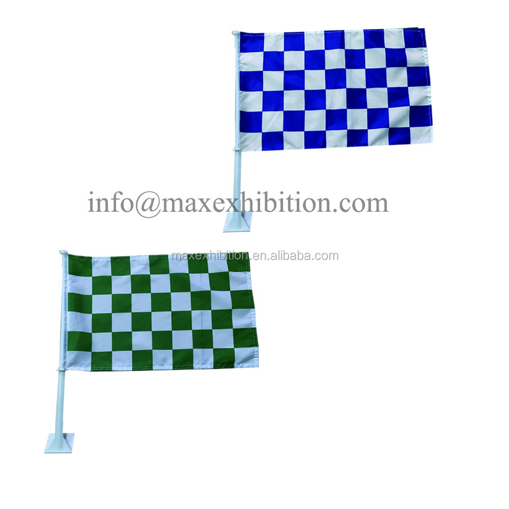 Promotional Cheap Custom Car Flag/Car Window Flag Wholesale/certificate polyester car flag customized car flags