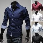 Wholesale walson d46511a 2015 long sleeve cheap casual shirts wholesale cotton fashion men dress shirt plus size mens shirts Qu