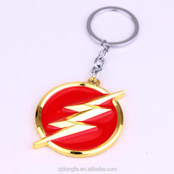 Comics Jewelry Superhero The Flash Keychain Flash Logo Keychain