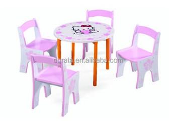 Scuola hello kitty tavolo e sedie set È design per bambini in