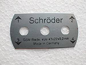 The Blade made in Germany Schroder blade for 100 Sqcm Round Sample Cutter Round Cardboard /Textile Carpet Sample Cutter,Applycation Weight test ,100 Sqcm ( 2 blades)
