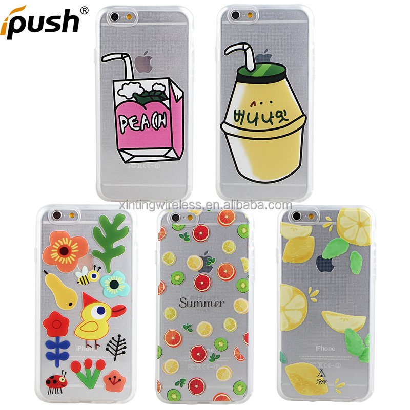 Lovely design embossed case cover TPU smart phone case soft case for iphone6