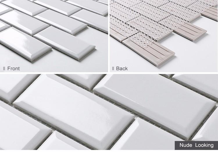 Küche Schlafzimmer Design Weiß Abgeschrägte Keramik U Bahn Fliesen Farbe  Für Wand Backsplash