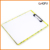 Office supplier A4 size paper display clip board storage colorful printing clipboard