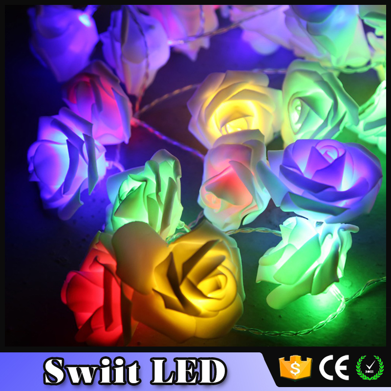 Lowest Price Premium Quality SW297 paper product warm white led flower rose light chain