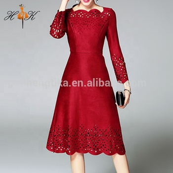 fe38ebfe8f7d Htk Latest Western Dress Patterns For Ladies Fashion Long Red Dress ...