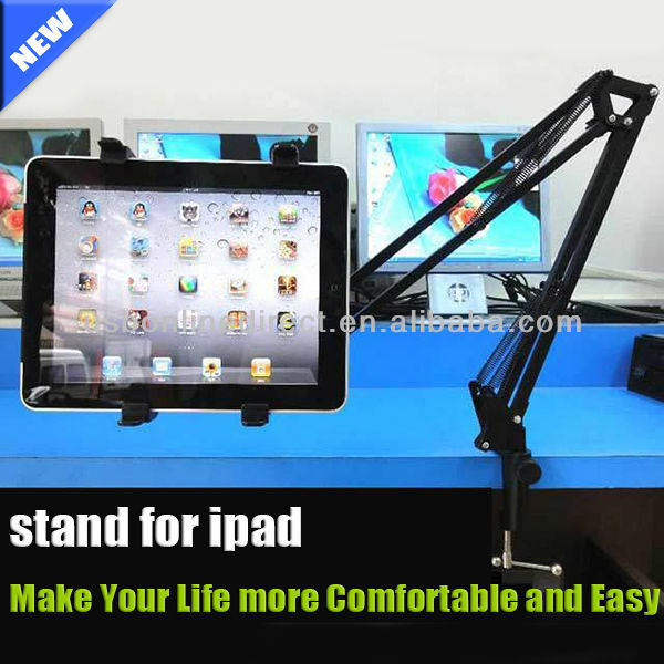 New gadgets 2014 tablet stand Mini Portable Flexible holder stands for ipad stand in bed/table for IPAD 2 3 4 Motorola Lenovo PA