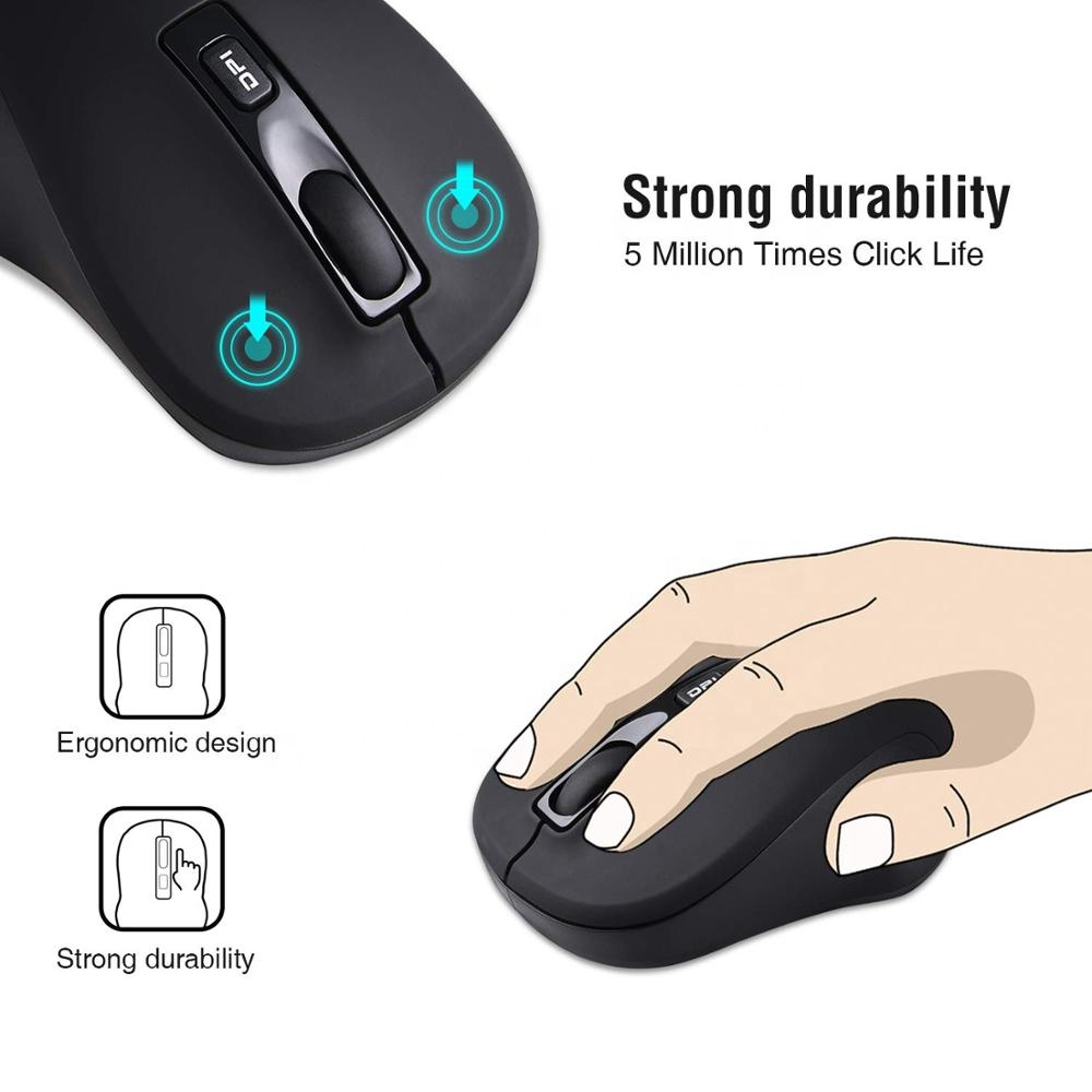 factory price black USB PS/2 flexible optical basic office wireless mouse brand for desktop laptop