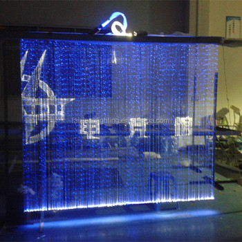 2017 Guzhen Novelty Led Fiber Optic Crystal Waterfall Light Effect Rgb Curtain With