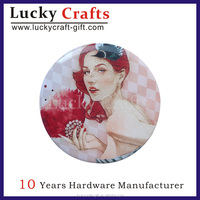 Customized tin badges button pins and printed nickel-free feature pin badage for sale