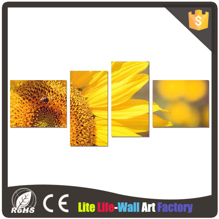 Hot Selling 4-Piece decorative oil painting home goods wall art canvas painting