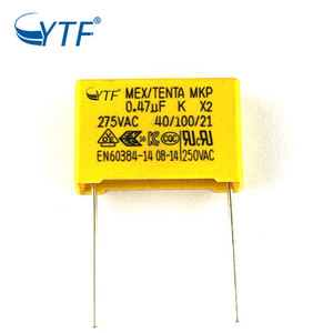 Custom Made Shopping Interference Suppression 0.47uf 275v X2 Mkp Film Capacitor