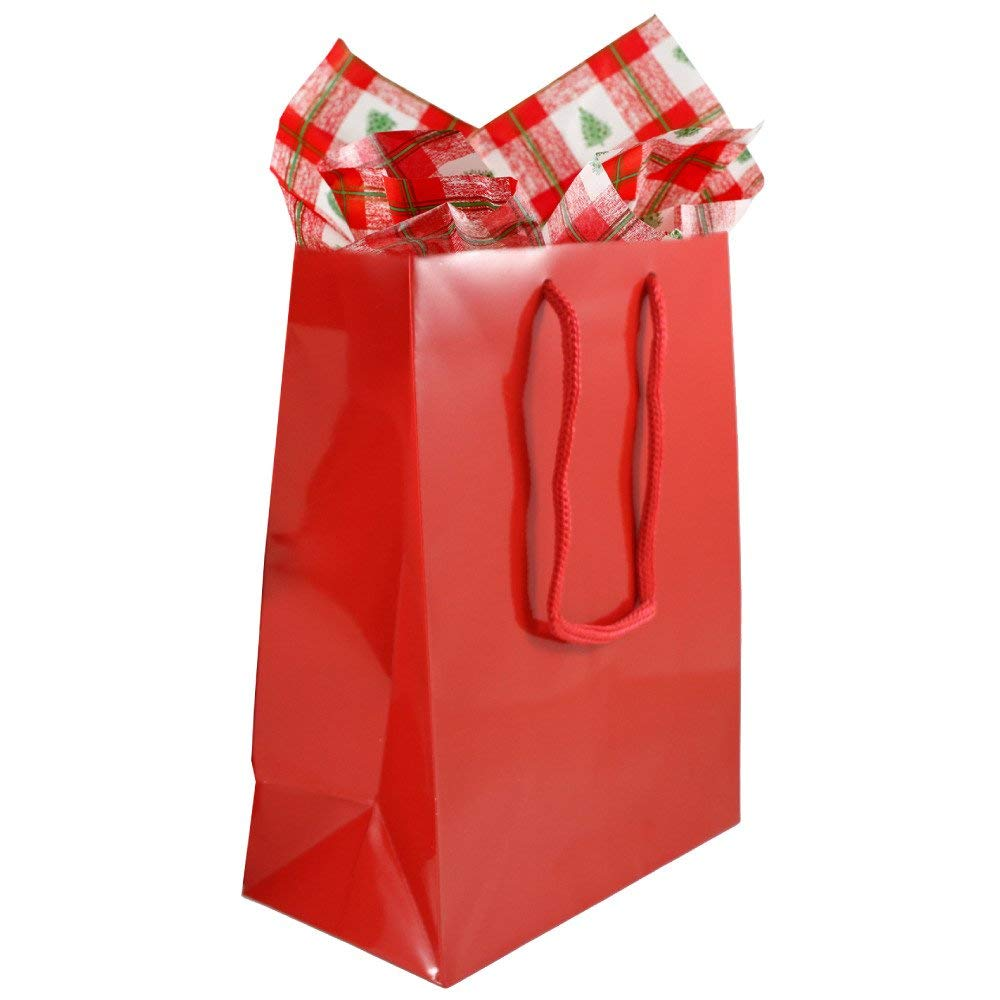 get quotations jam paper christmas gift bag assortment 2 large glossy bags 10 x 13