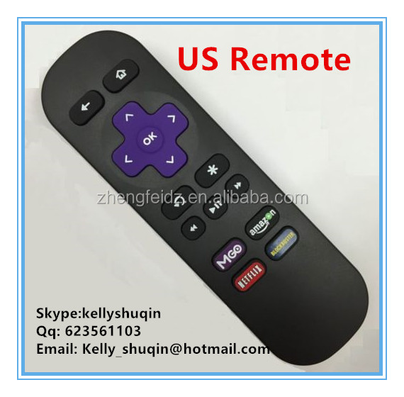 USA Replaced Remote control for roku 1 2 3 LT HD XD XS XDS w MGO Netfilx amazon App key 16 buttons