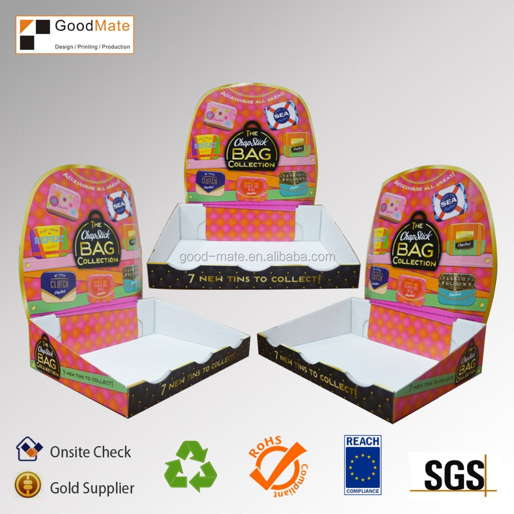shop counter design cardboard display desktop display shelf