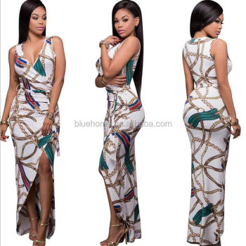 Hottest African Design 2017 Ladies Women Formal Sexy Pencil Fashion