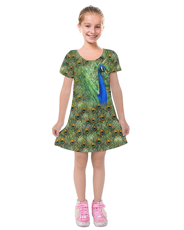 a8565ae78edb Get Quotations · PattyCandy Toddler Girls' Short Sleeve Soft Velvet Dress  Fierce Jungle Animals Lion Face Theme,