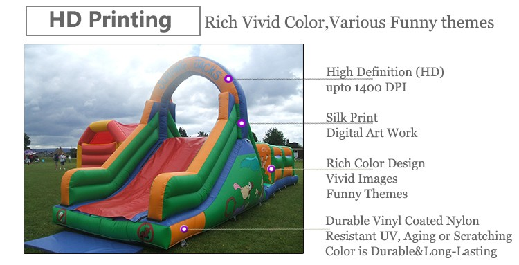 0.55mm PVC tarpaulin giant boot camp /military adult inflatable obstacle course for sale