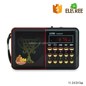 Hot Sellling USA EUROPE kids old shepherd holy religion use bible player with fm radio mp3 player EL-400U