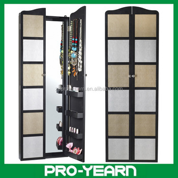 Wall Mounted Wooden Mirrorerd Jewelry Cabinet With Dressing Mirror ...