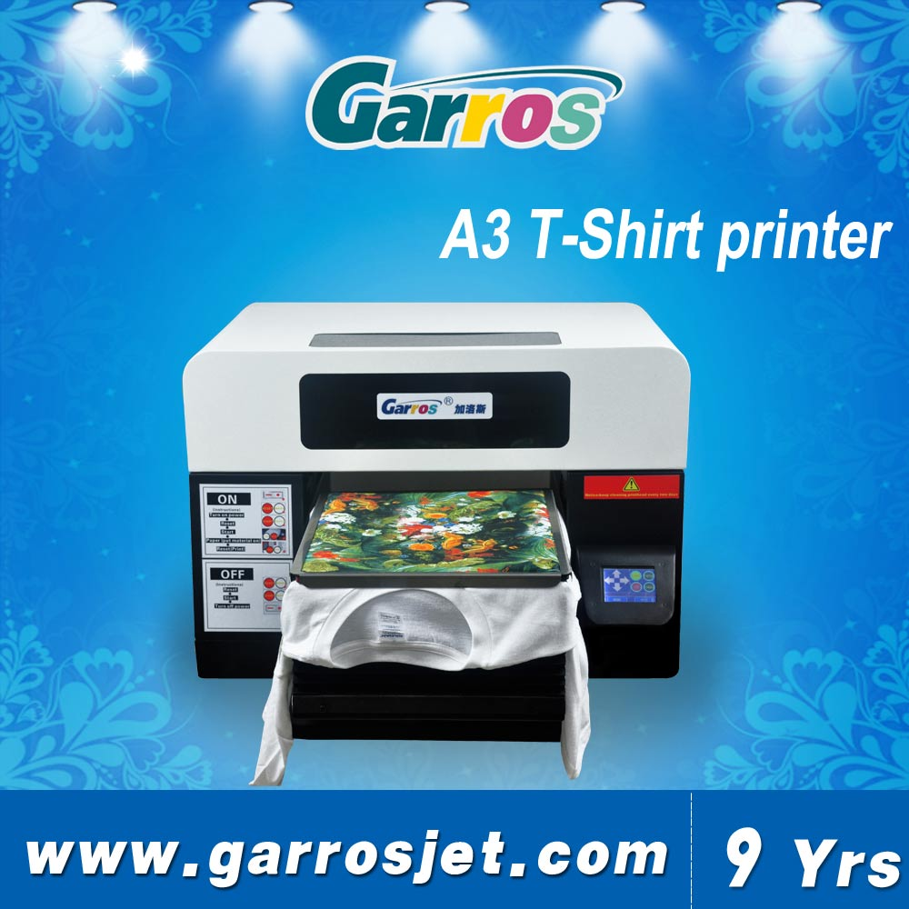 38f859ab9 A3 size 6 colors DTG direct to t-shirt white ink flatbed kiosk printer with  RIP software