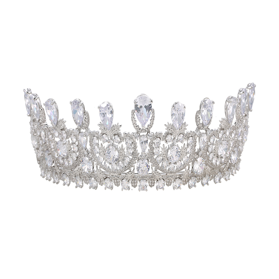 00164 xuping birthday pageant cosplay costume party prom bridal princess tiara, synthetic cz crystal <strong>crown</strong>, wedding <strong>crown</strong>