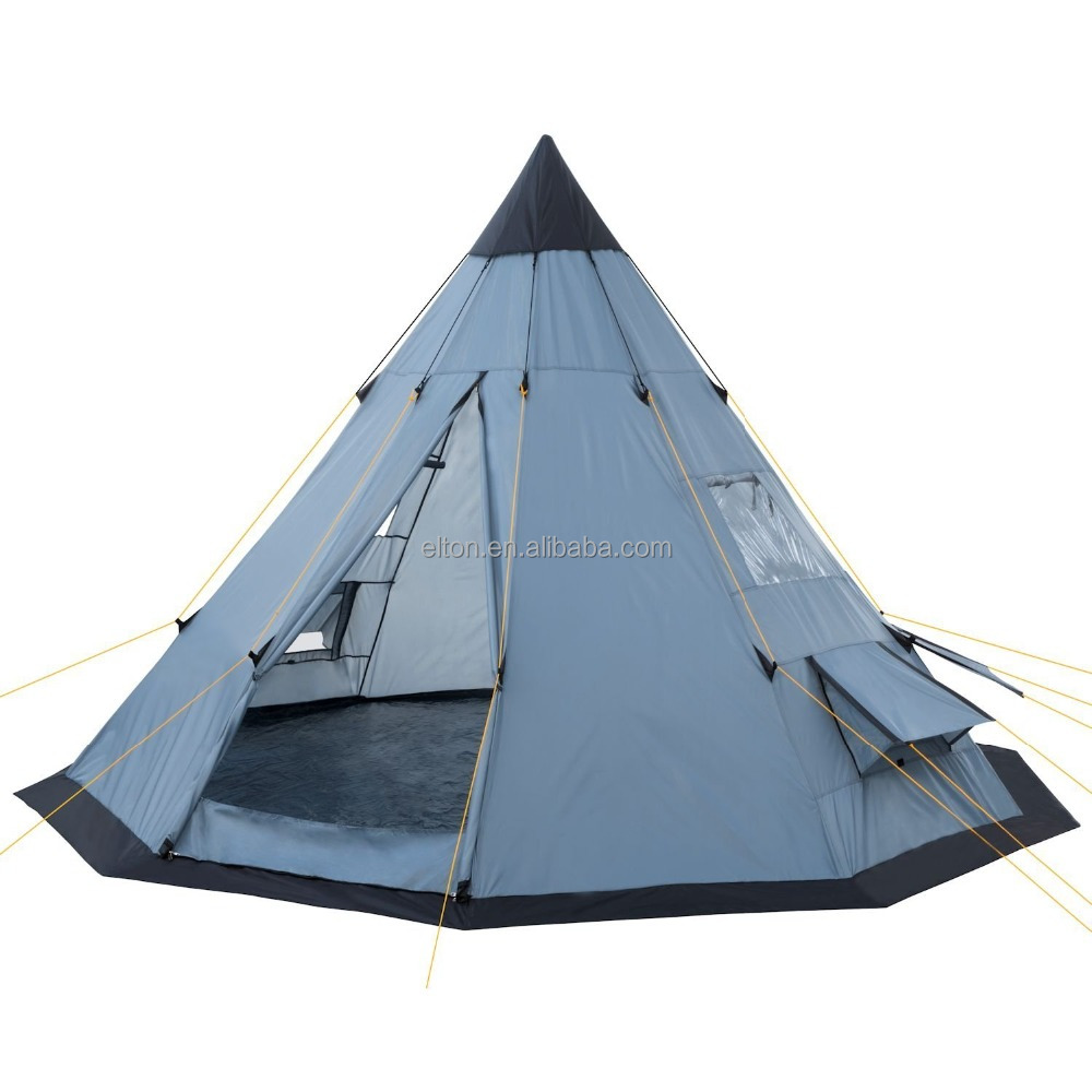 2017 Large 8 men single layer Teepee <strong>tent</strong>