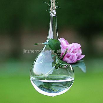 Hanging Teardrop Shaped Glass Bottle Terrarium Buy Glass Bottle
