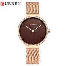 Женские кварцевые часы CURREN, спортивные часы с сетчатым ремешком, 2019(Китай)