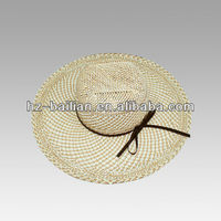 Outdoor summer paper palm leaf hats