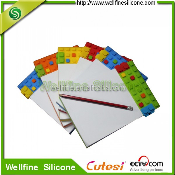 Creative blocks silicone note pads in A5 size paper
