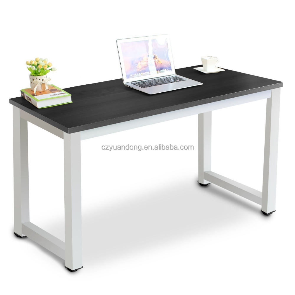 New home office desk corner computer pc writing table workstation wooden metal