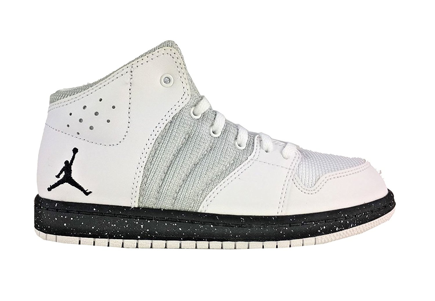 5eec877577dc Get Quotations · Jordan 1 Boys Flight 4 Premium BP Basketball Shoes Size 3  Y White Black