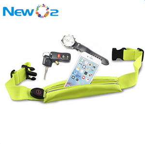 Hot sale USB rechargeable hydration LED sport belt running waist pack