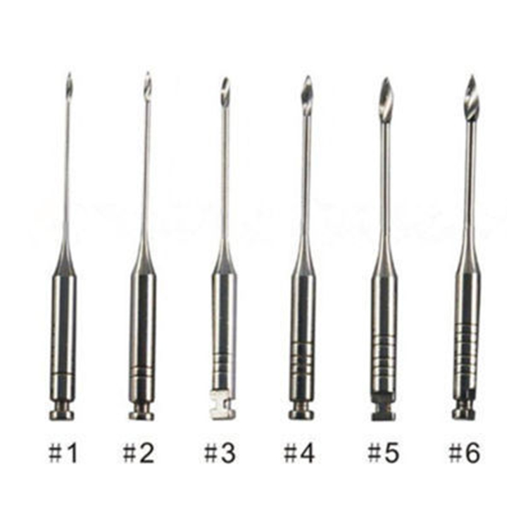 DENCO Stainless Steel Engine Rotary use Peeso Reamers for preparation of the root canal post