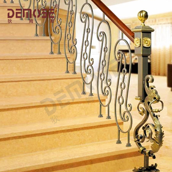 Wrought Iron Stair Railing Panels/paint Iron Railing ...
