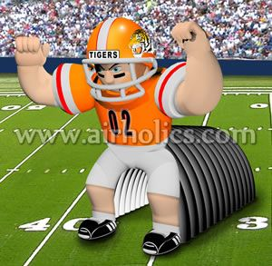 Newly inflatable helmet/inflatable football helmet tunnel for event