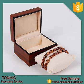 Single Wooden Watch Bracelet Bangle Jewelry Box With Pillow High