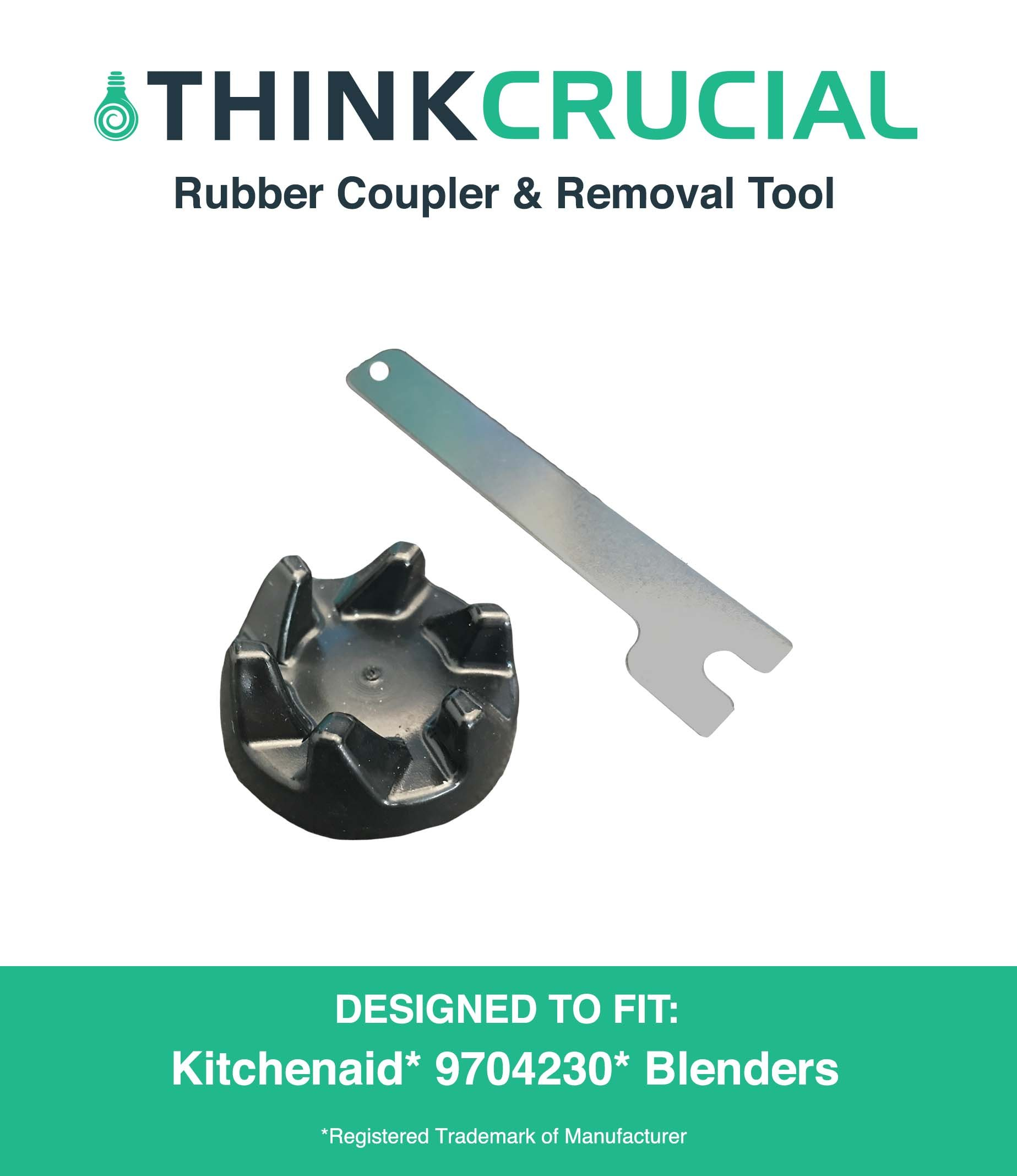Replacements for KitchenAid Blender Rubber Coupler & Removal Tool for Models KSB3, KSB3 & KSB5, Compatible With Part # 9704230, by Think Crucial