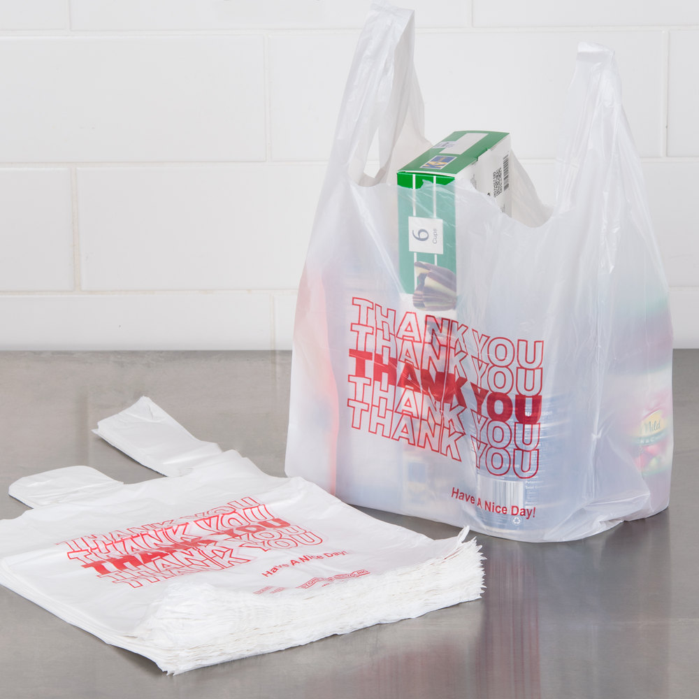 Thank You White T Shirt Plastic Ping Bag Product On
