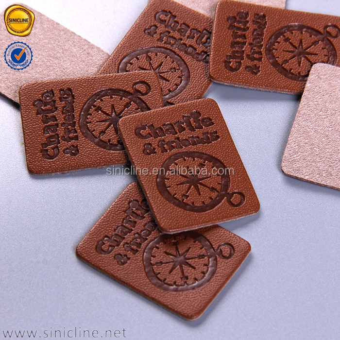 Sinicline 2016 new custom garment leather patch natural leather label for jeans